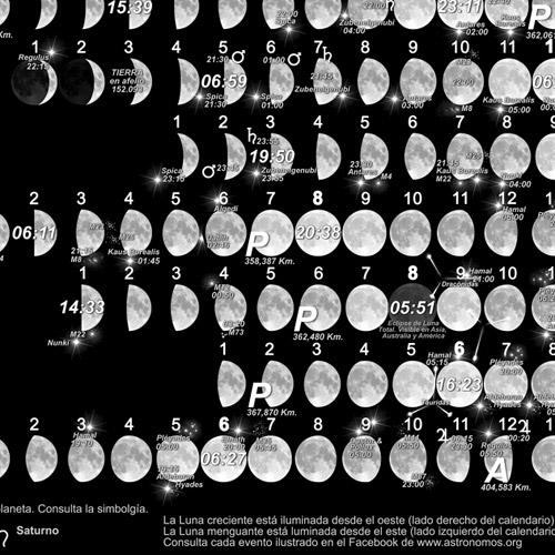 Calendario Lunar 2013-2014 [LPCALLUN13-14] : Kosmos Scientific de ...